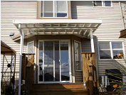 Acrylic Awning over Door