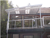 Aluminum Awning with skylights